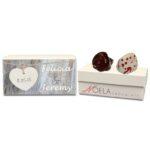 Hanging Heart Wooden Background Wedding Gift Box
