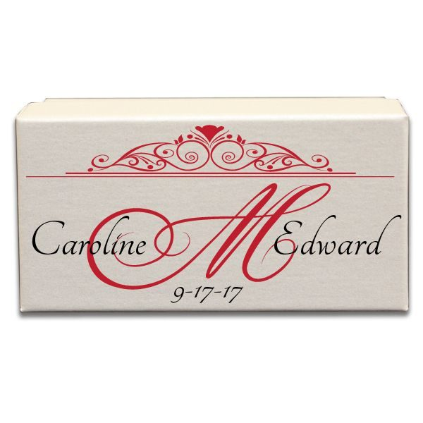 Ornamental Monogram Border Wedding Gift Box