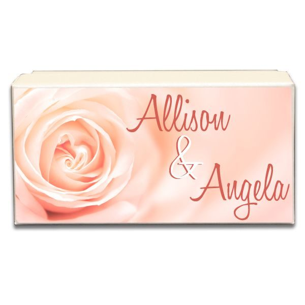 Peach Colored Rose Wedding Gift Box
