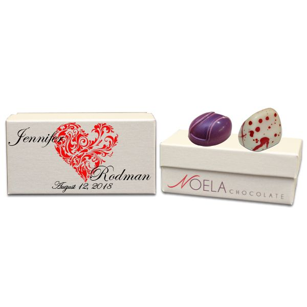 Red Heart Artistic Design Wedding Gift Box