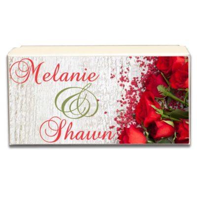 Beautiful Red Roses Wedding Gift Box