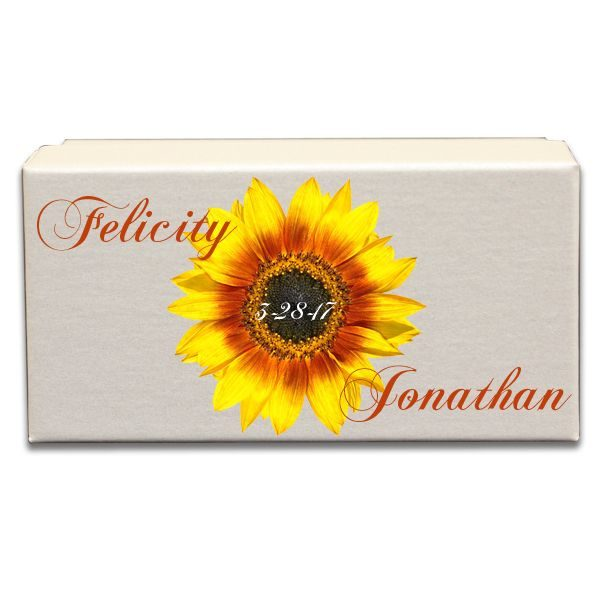 Lovely Sunflower With Plan Background Gift Box