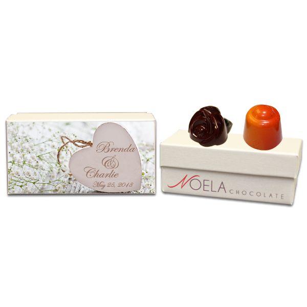 Wooden Heart Wedding Gift box
