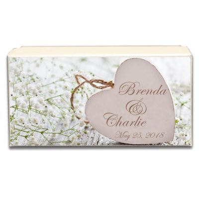 Wooden Heart Wedding Gift box