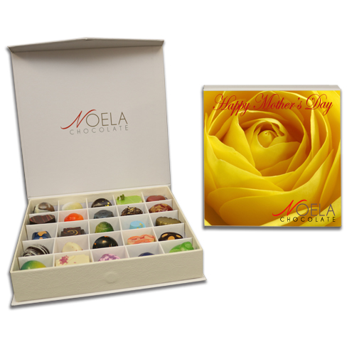 yellow rose mothers day box