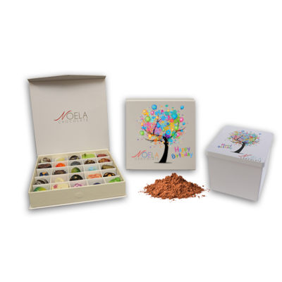 Birthday Tree Box with Free Cocoa Tin